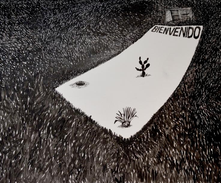Bienvenido, 30x40 cm. 2014